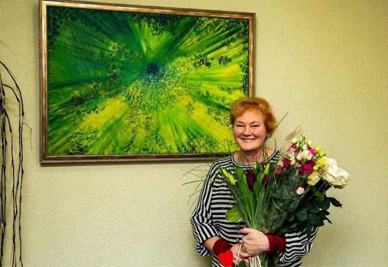 """Laimos Didžbalienės tapybos paroda """"Spalvų terapija"""""""