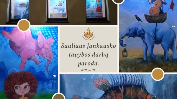 Kviečiame aplankyti šiauliečio dailininko, fotografo Sauliaus Jankausko tapybos darbų paroda.