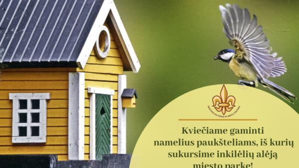 Kviečiame jungtis prie akcijos ir gaminti namelius paukšteliams!